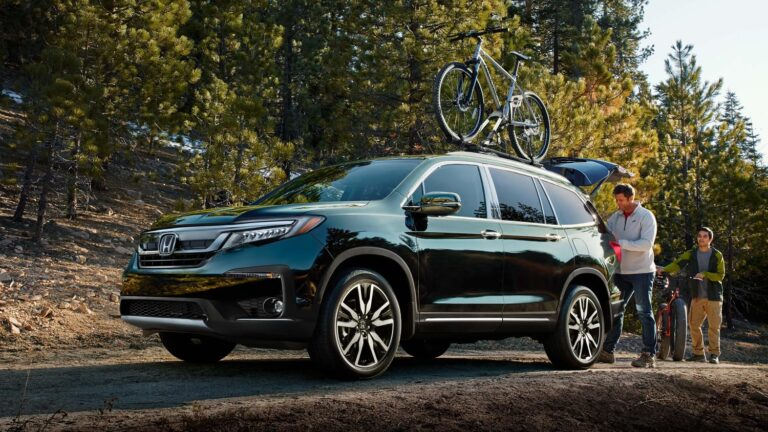 Honda Pilot with bike rack