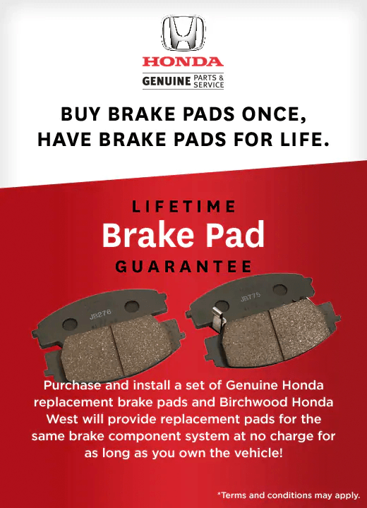 Honda Brake Pad Replacement