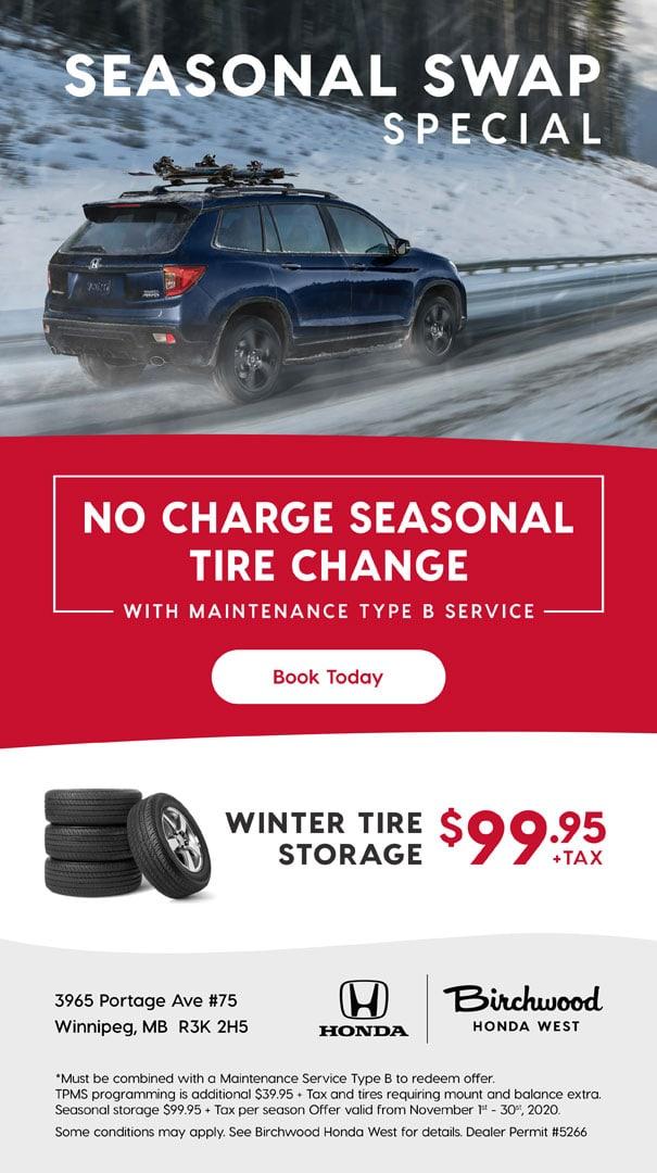 Birchwood Honda West Service Seasonal Swap Special